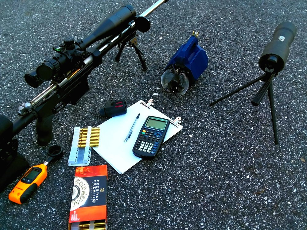 Storm of Ra seen here with a custom 300WM long action, and all the other toys needed to shoot well over 1000 meters.