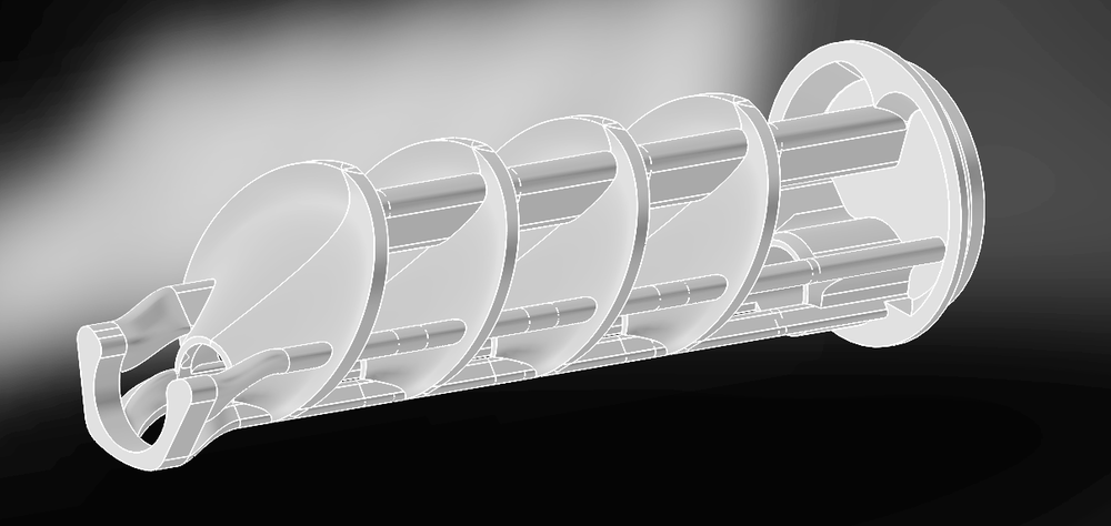 Leshiy conical baffle moderator core