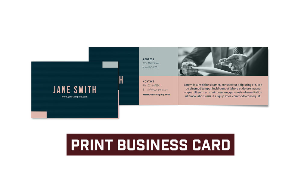 Standard Four Sided Business Card * Design Template Included