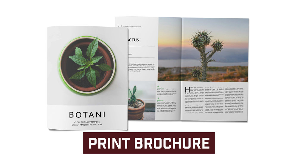 Four Page Print Brochure with Design Template. Priced as low as .55 a piece.