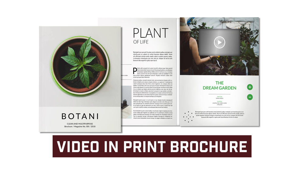 "Video In Print Brochure with 4.3"" LCD, Speaker and USB Port"