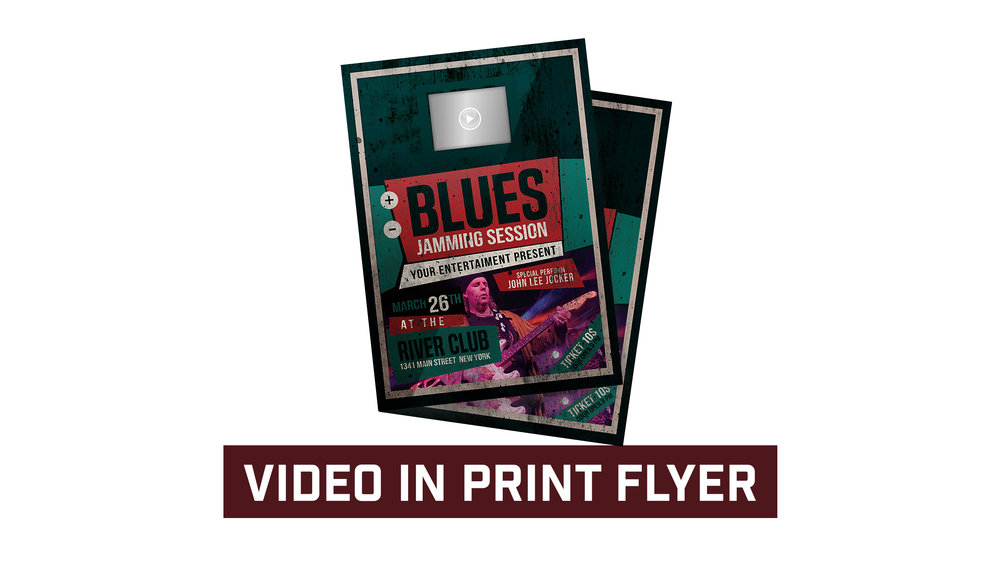"Video in Print Flyer available with 2.4"", 3.5"" and 4.3"" LCD."
