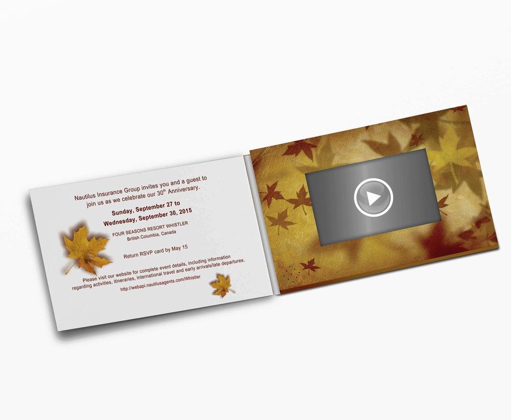 Printflix Print Plus Folded Video Greeting Card 5 X 7 With 43 Lcd