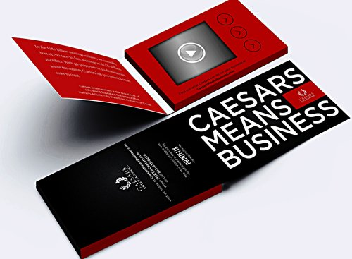 Printflix print plus add audio to a printflix audio in print product caesars video business cards with three buttons easily personalize your business car with a selfie colourmoves