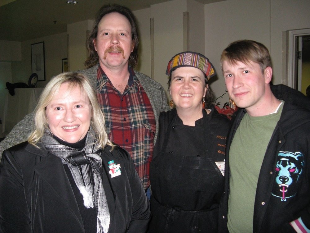 From left, Leeta and Patrick Kennedy, owners of Stone Cross Farm, with Ouita Michel and Adriel Gray, Leeta's brother and Stone Cross sales representative
