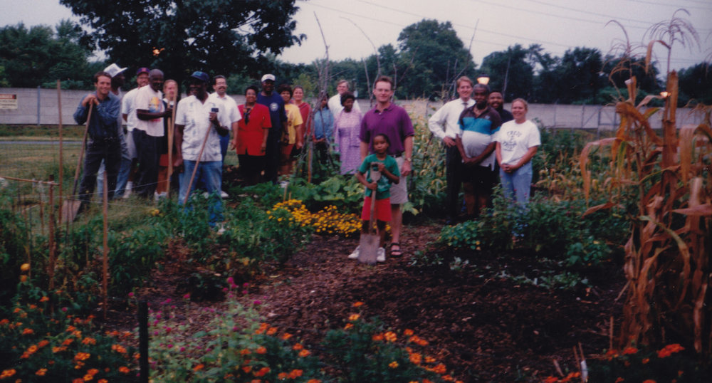 "David Wagoner, left, started a community garden while living in Alexandria, Va. The neighbors called him ""Farmer Dave"" in 1997, and he's still at it, 20 years later."