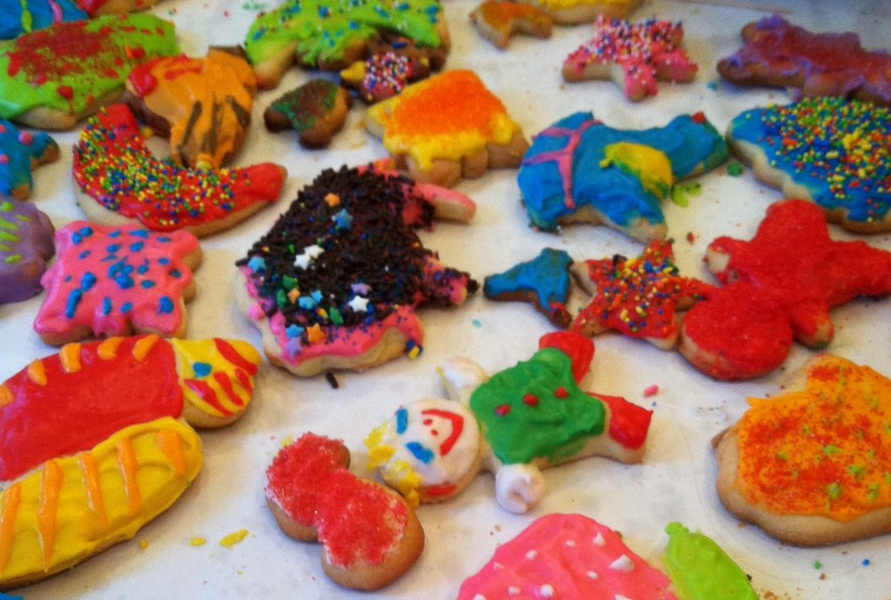 Ouita Michel and her mother, Pam, baked these Damn Good Sugar Cookies in December 2013.