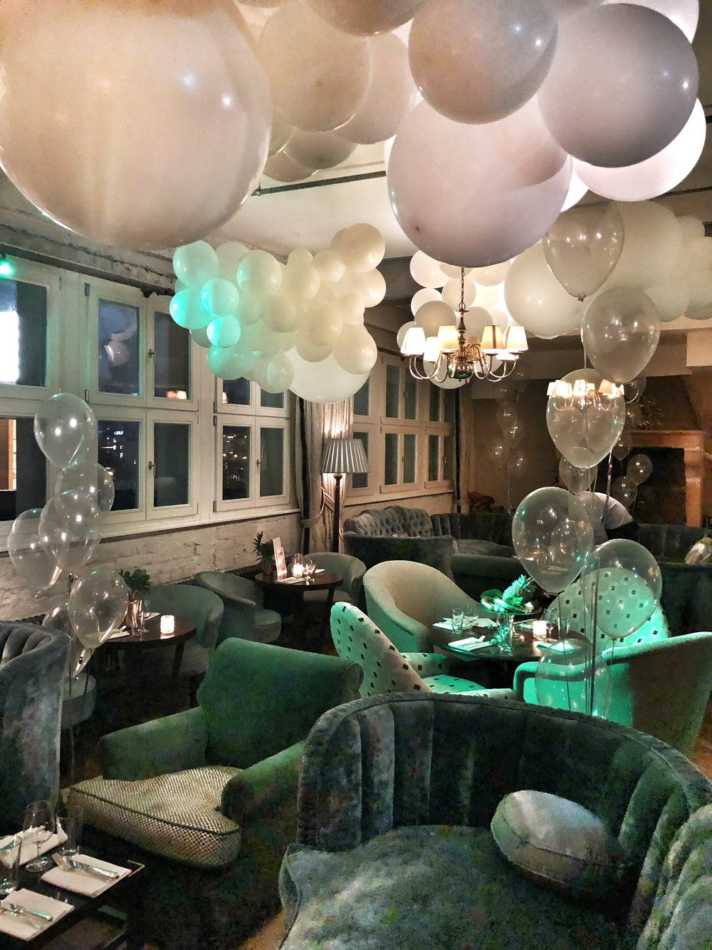 Soho House NYE Balloon Clouds Surrealist ball