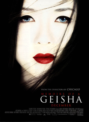 Memoirs of a Geisha(2005)    Won: Best Cinematography    Won: Best Costume Design    Won: Best Art Direction, Set Decoration    Nominated: Best Music, Original Score    Nominated: Best Sound Editing    Nominated: Best Sound Mixing