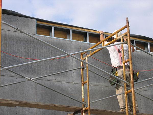T clear corporation concrete building envelope products for Concrete wall insulation wrap