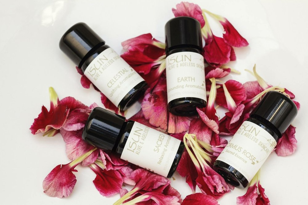 The power of pure plant essence - essential oils have unique characteristics to alter mental states from relaxing and soothing, to invigorating and energizing.  iSun is a wild-crafted, organic skincare line, using the highest quality botanical and plant essences; sustainable sourced ingredients free of preservatives, synthetics, dyes, and parabens.