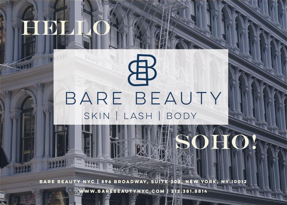 Bare Beauty NYC is now in SoHo!  - Bare Beauty NYC New location, New vibe…and its all centered around WELLNESS!Thank you for being a part of the growth of Bare Beauty NYC and for entrusting me with your skincare and beauty needs.  I am excited to share with you the new location of Bare Beauty NYC -  596 Broadway, which is located in the heart of SOHO and still extremely accessible via the B, D, F, M, N, Q, R, and W trains.  Inhale, Exhale, Renew...Nestled inside of Ethos Collective Wellness, I am now able to offer you a more relaxing and nurturing environment that is inline with the vision of Bare Beauty - Inhale, Exhale, Renew.  I invite you to come share this new experience with me and again, I thank you for your continued support.