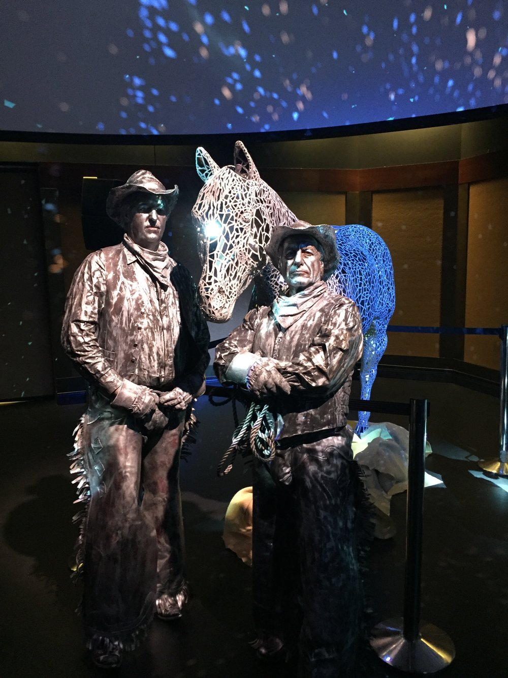 Silver Horse and Western Statues.JPG