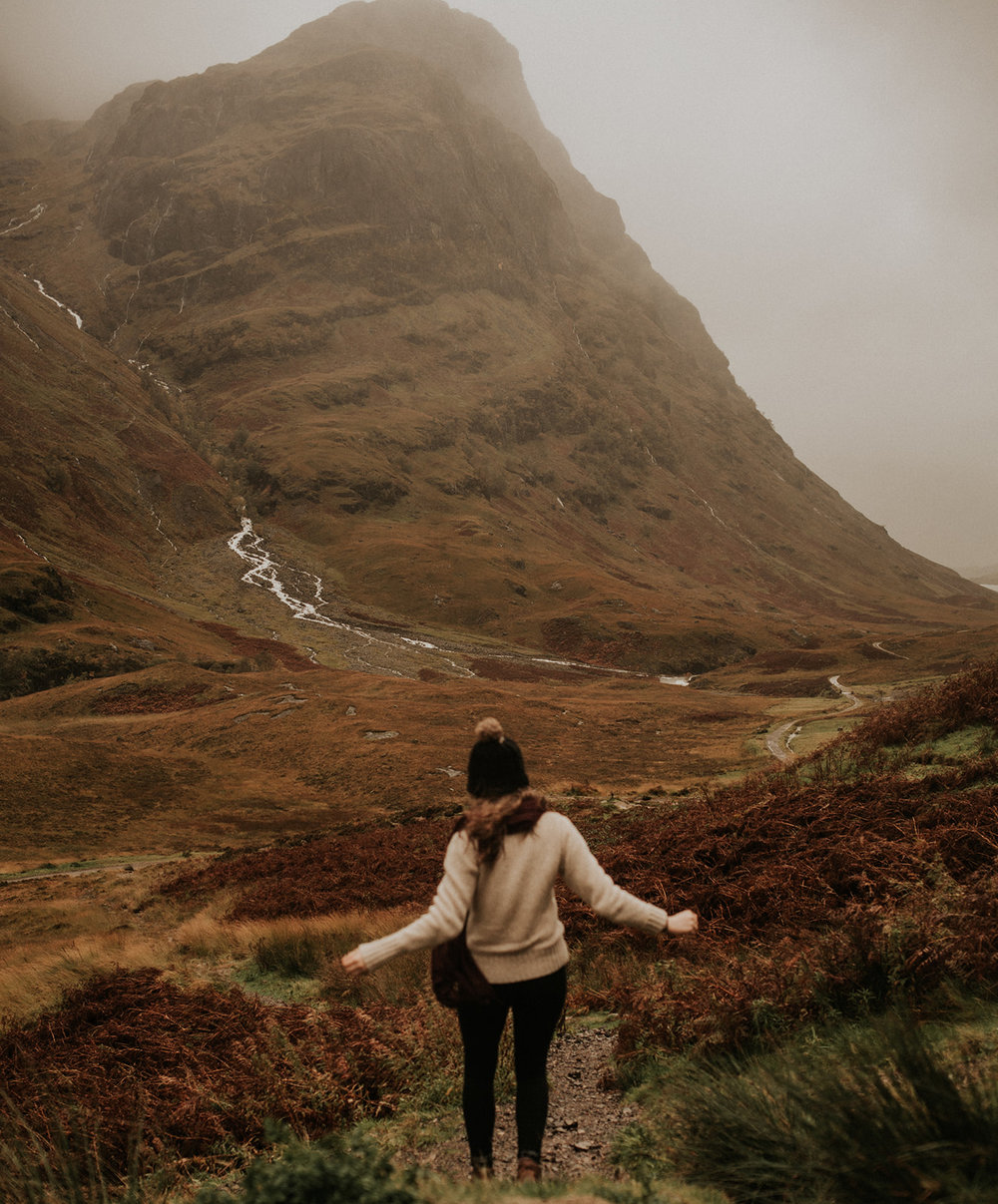 me during a storm in the highlands of scotland