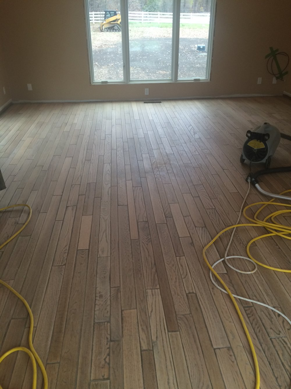 sanded living room floors