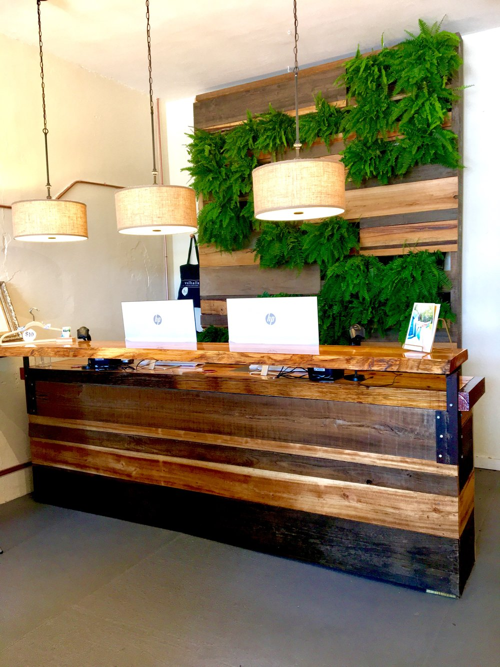 Hard Tack's Counter & Plant Wall