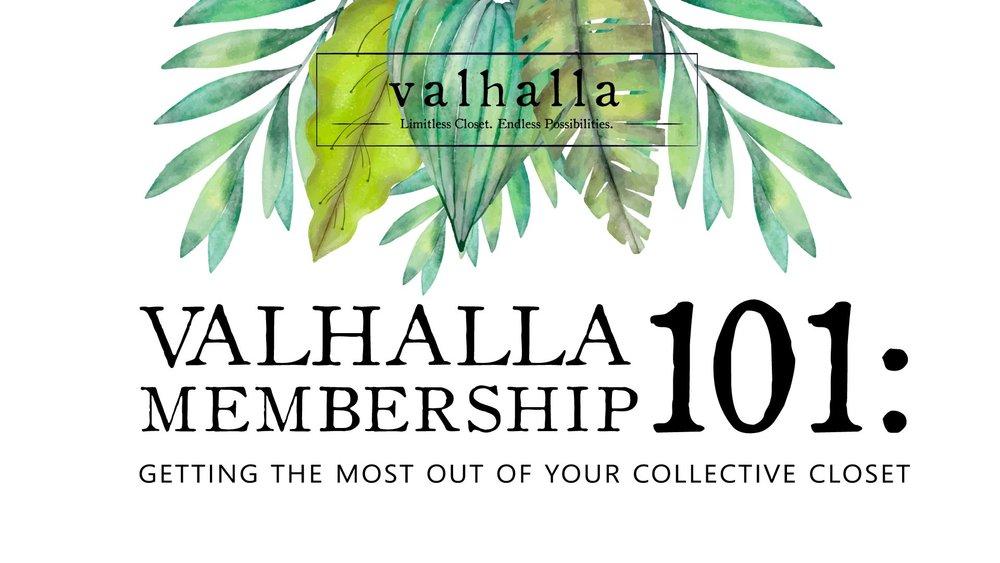 Valhalla Membership Workshop