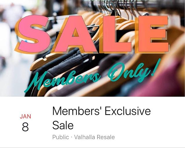 We're having a SALE! And members get to shop the sale one day early! Jan 8-13. 🤗 #sale #membershiphasitsprivileges