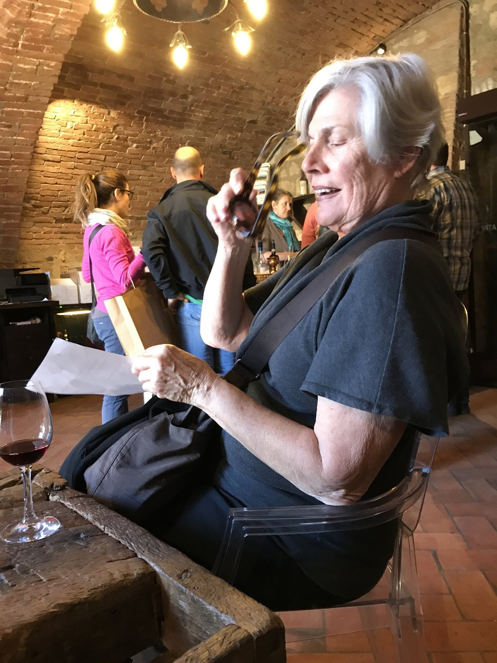 After walking several stories underground; finally the wine tasting! -