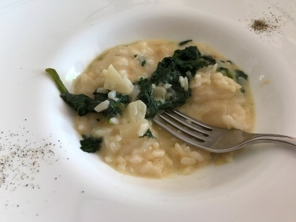 Osteria Del Borgo - Risotto with apples and spinach