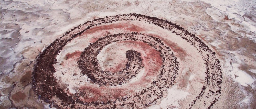 Inspired by Robert Smithson's landscape work The Spiral Jetty