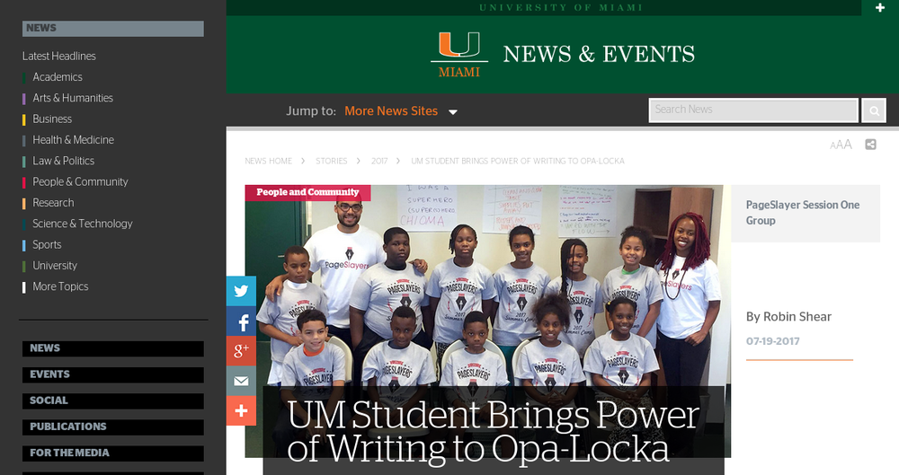 pageslayers_press_UM-Student-Brings-Power-of-Writing-to-Opa-Locka