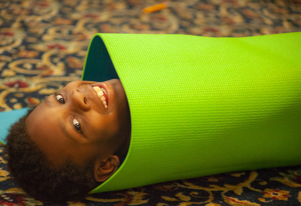 Yoga burrito? Photo credit: Maria Esquinca