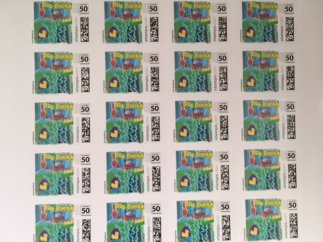 Combining an element from each individual's stamp, our PageSlayers colellectively created the very first Opa-Locka stamp!