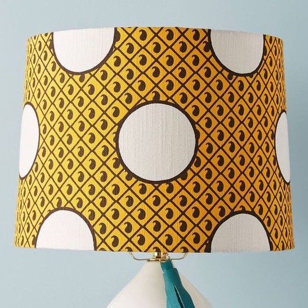 Great lamp shade from @anthropologie. #lighting #colorinspiration #popsofcolor #colorhunting #creative #homedecor