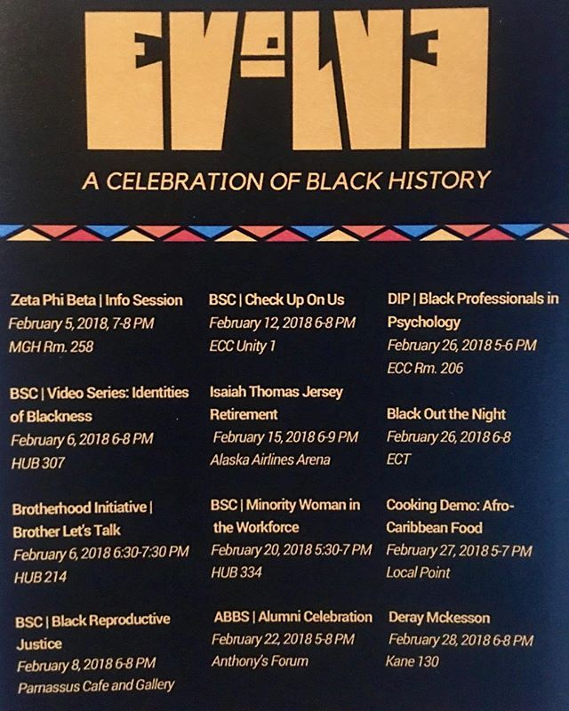 Some events happening on campus this month! Don't miss out. #blackgenderuw #blacklivesmatter