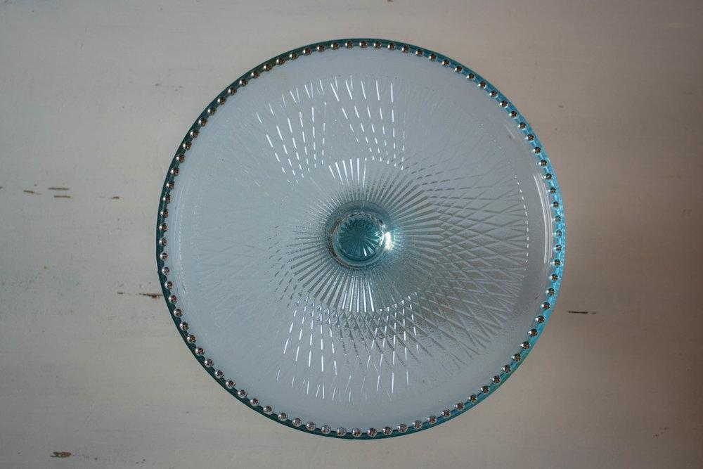 Aqua small pedestal platter  Qty: 1