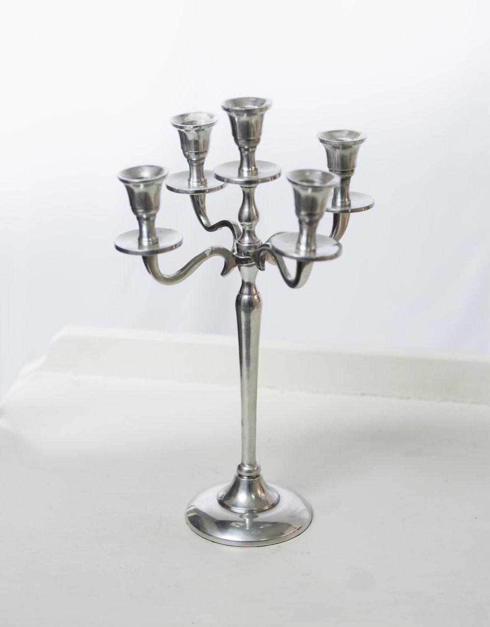 Silver candelabra   Qty: 2