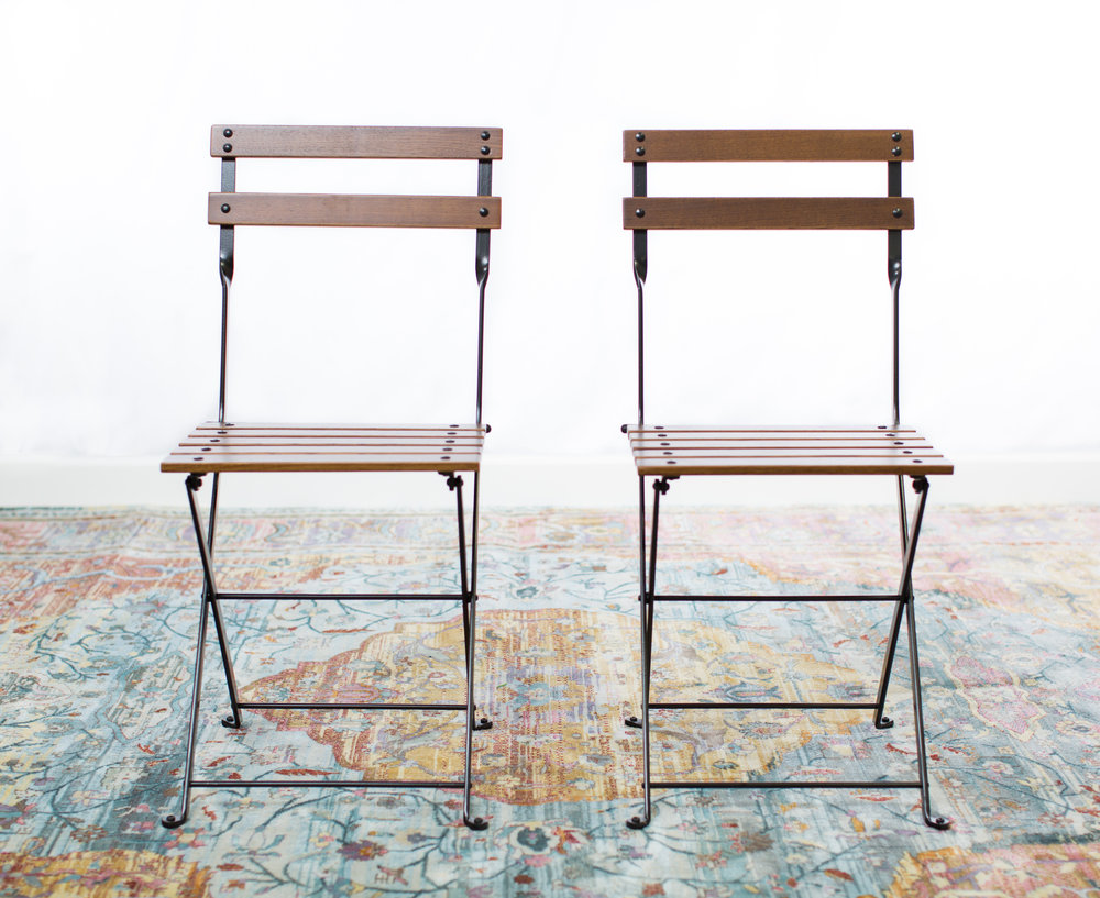100 Folding Bistro Chairs