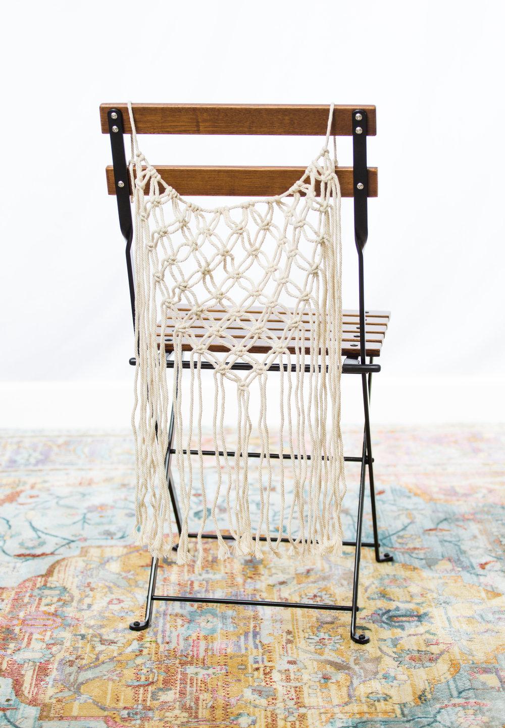Macramé chair hanging  Qty: 2