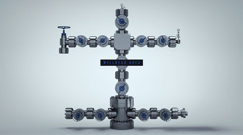 3d animation, wellhead area part