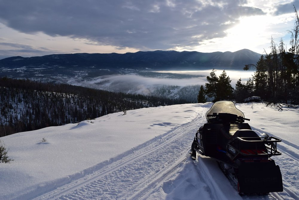 Guided snowmobile tours through the Colorado Backcountry.