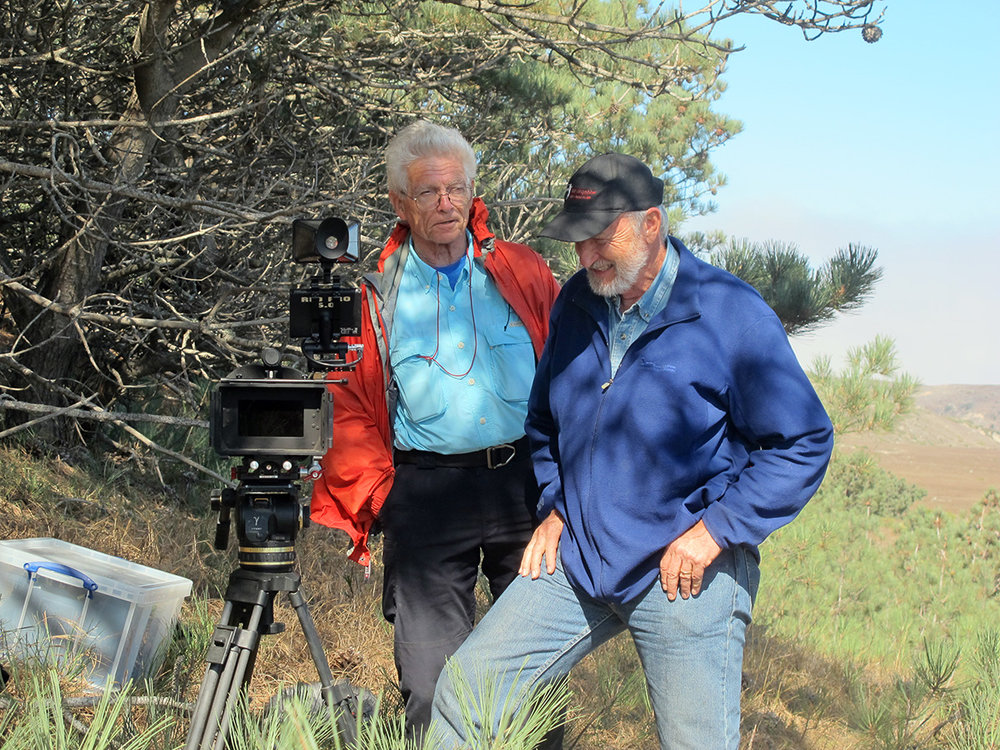 Archaeologists Don Morris (l) and John Johnson have collaborated on researching and understanding the site for 40 years