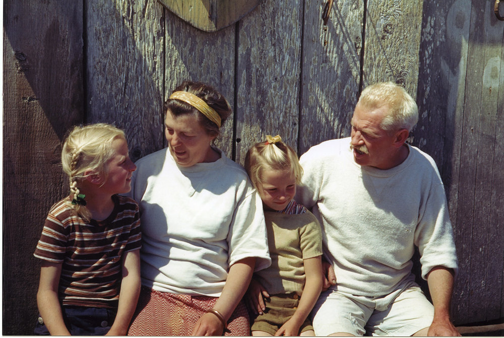 Left to right: Marianne, Elizabeth, Betsy, and Herb Lester lived alone on rugged San Miguel Island from 1930 to 1942