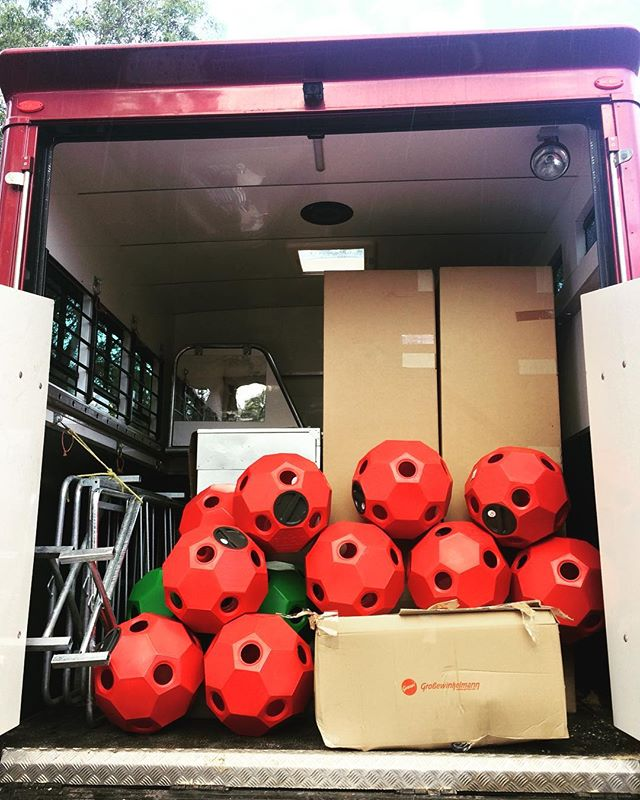 After a busy weekend @equifest_au we have come home re stocked the truck to do deliveries today in the Southern Highlands. We are looking forward to delivering 2 solariums, rug racks, hay balls, tack lockers and our beautiful tack room accessories to some of Australia's leading dressage and Eventing riders. #flaneurequine #qualitystableproducts #equestrianaustralia