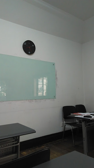 Inside my Chinese classroom, where I spend my mornings five days a week!