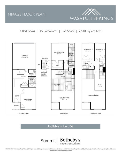 wasatch springs inserts mirage floorplanjpg - Townehome Holmes Homes Utah Floor Plans