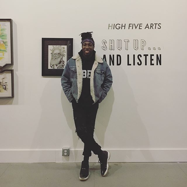 "Big thanks to everyone who came out to the opening of ""Shut Up...And Listen"" last night, it was a blast! Congratulations to curator/artist @derson_art and artists @n.a.j_art @_aghahowa @gilbertgandia and Veronica Holmes. Also an immense pleasure to hear poetry by  @fortressjones . If you didn't make it to the opening, you can catch their work next Saturday 12-4 during the @a_little_bazaar market"