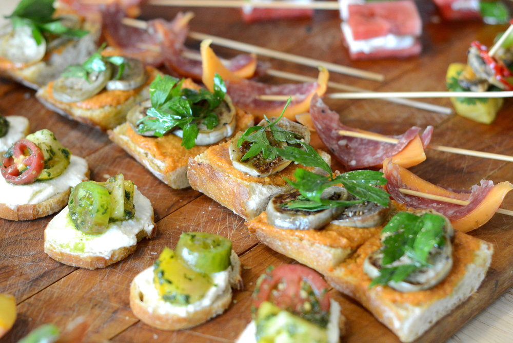 """Seasonal light hors d'oeuvres"" in NYC for $7/person"