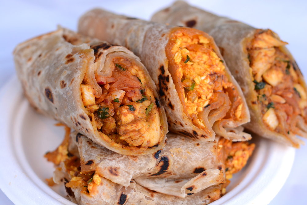 Indian wraps and rolls for $7/person available in NYC