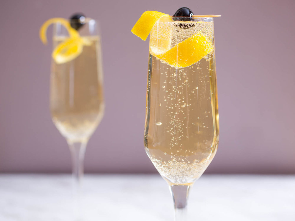 French 75 cocktail recipe  from Serious Eats