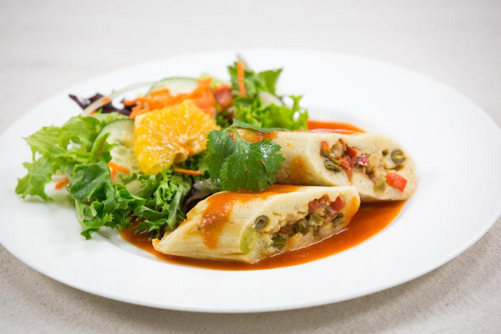 Delicious Tamales w/ Salad Meal - Alicias Tamales Los Mayas (SF)