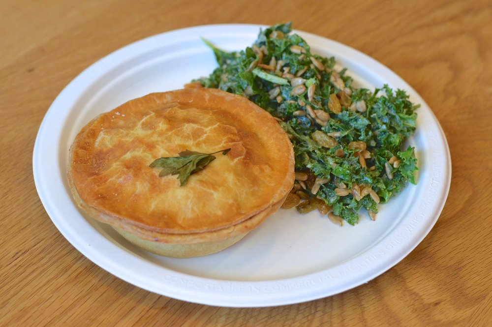Savory Pie & Kale Salad  (Tuck Shop NYC)