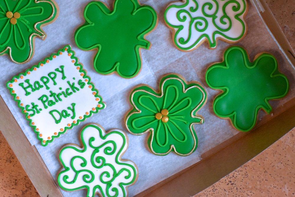 Get Lucky Sugar Shamrocks - Bonne Fete Baking (NYC)