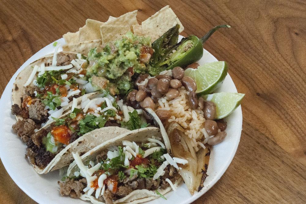 Authentic Taco Bar w/ Chips + Guac - Top Flight Tacos (LA)