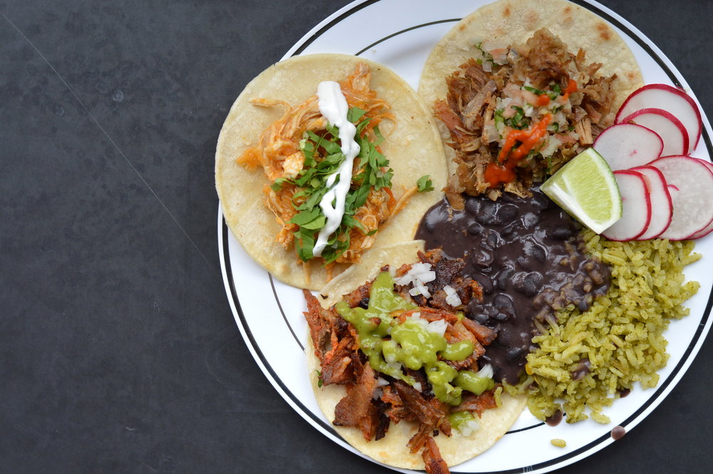 Mexican Tacos w/ Rice + Beans - Taqueria Santa Fe Corp (NYC)